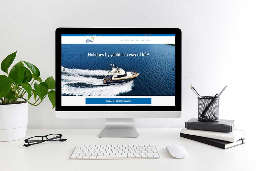 Κατασκευή ιστοσελίδας του Blue Paradise από την iservices