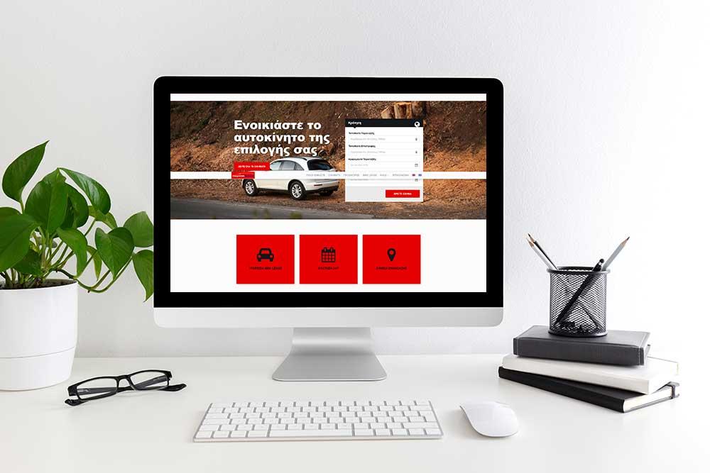 Κατασκευή ιστοσελίδας του Easy Rent Greece από την iservices