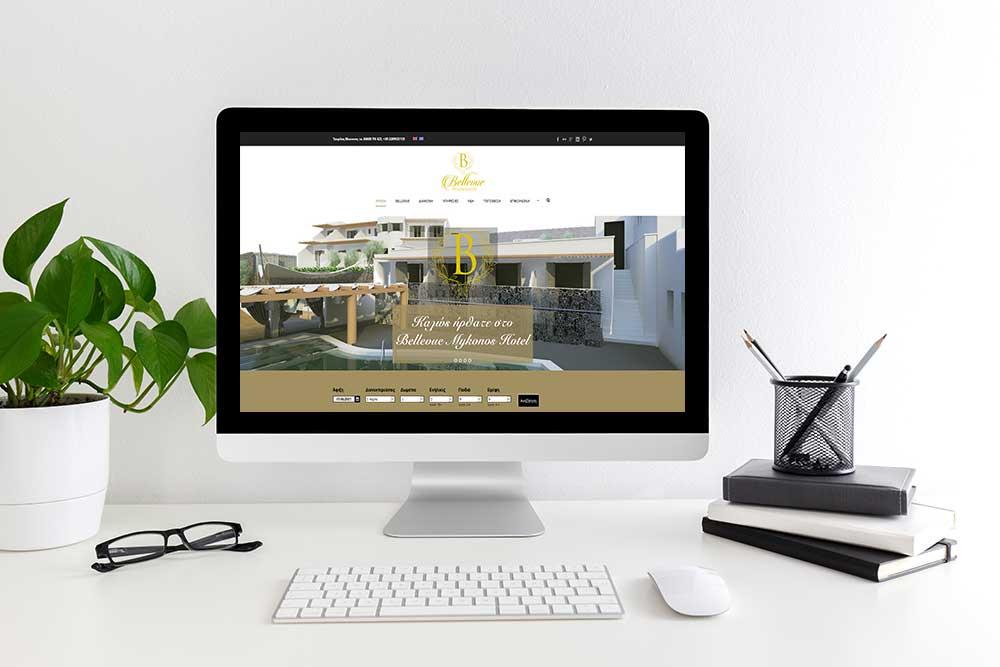 Κατασκευή ιστοσελίδας του Mykonoshotel Bellevue από την iservices