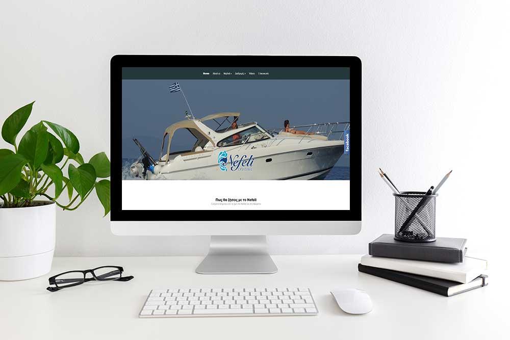 Κατασκευή ιστοσελίδας του Nefeli Cruising από την iservices