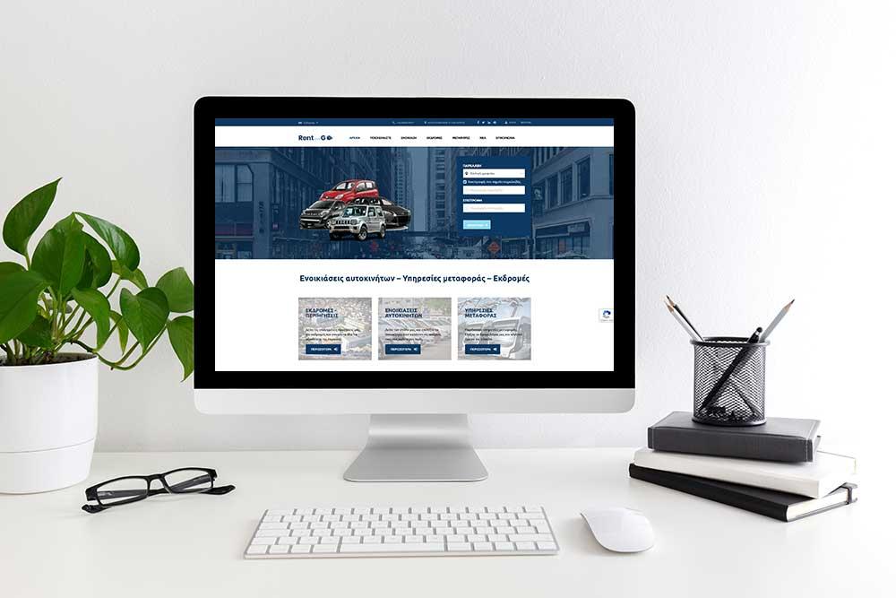 Κατασκευή ιστοσελίδας του Rent And Go από την iservices