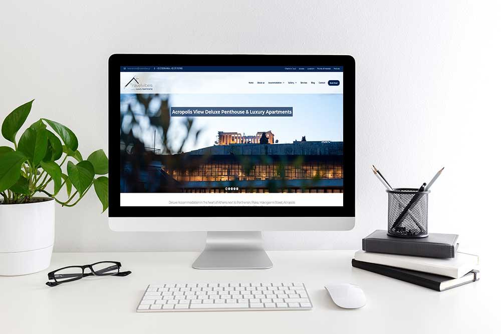 Κατασκευή ιστοσελίδας του Travel Vibes από την iservices