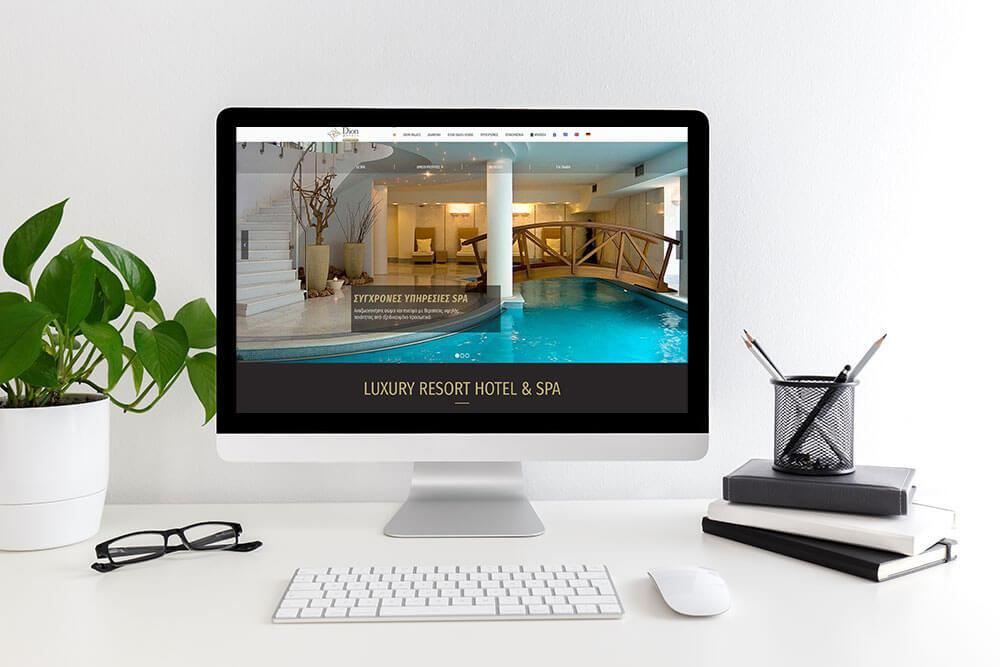 Κατασκευή ιστοσελίδας του Dion Palace από την iservices